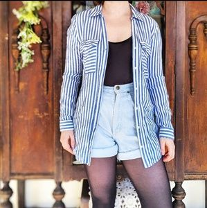 Bleuh Ciel Striped Button-Down